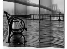 Paraván - A Foggy Day on the Brooklyn Bridge II [Room Dividers]